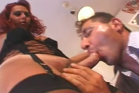 Red blowjob ladyboy threesome.