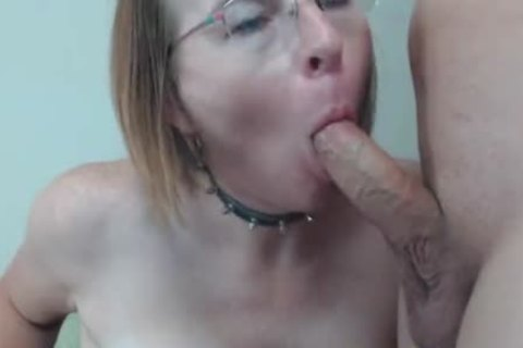 mature shemale gets Titty fucked And ejaculated