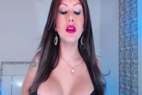 pretty brunette lady-man Diosa Strokes Her bulky dong