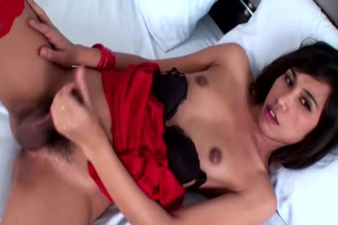 trickled FULL clip scene Of Shy Ladyboy In Red Jerking Till cumshot