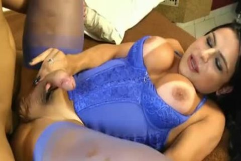 Thalya Cyclone receives Analed In Blue lingerie