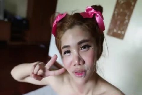Petite legal age teenager Thai Ladyboy Ride Hard