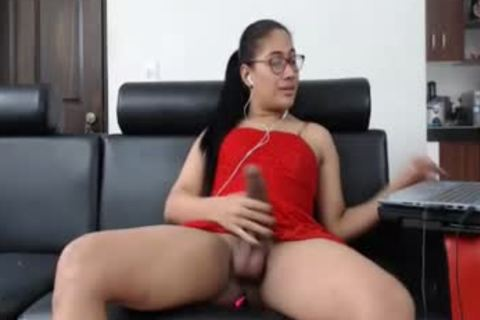 slutty Scarleth In Red dress Jerking 10-Pounder And cum one more time!