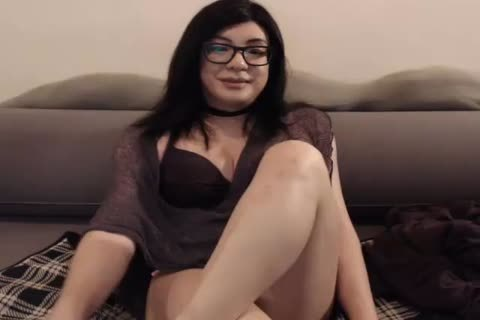 horny asian-american Tease Jerking Her large 10-Pounder Over Her petticoat