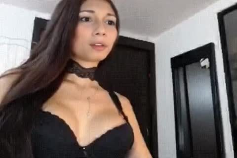 Trans Yubeca Shows Her lusty Dance Moves POV