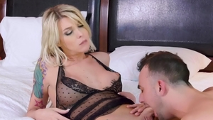 Trans Angels: Aubrey Kate along with Mason Lear in the bed