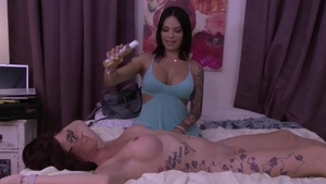 Transsensual - Ass fucking porn with inked big tits Ts Foxxy