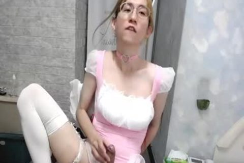 hot ejaculation And disrobe From Chinese Catgirl Maid Abby
