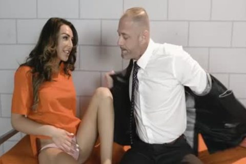 TBabe Chanel Santini Let guy pounds Her butt Inside The Jail