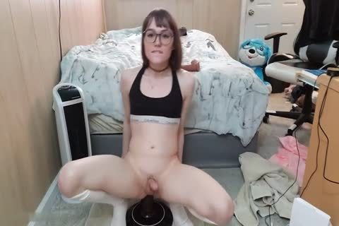 Claire Tenebrarum small tranny With large sex toy