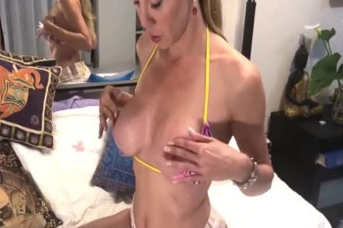 MILF blonde outside Mutual Masturbation With Her fellow N sperm