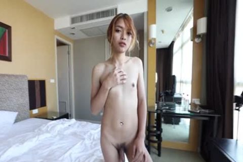 HelloLadyBoy Skinny Thai Ladyboy arsehole Invaded