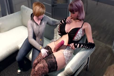 Family Secret - 3D lady-twink MILF Nails lad Futanari Animation
