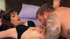 Trans Angels: Muscled Jamie French doggy fucks sex scene