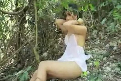 Ladyboy In The Forrest