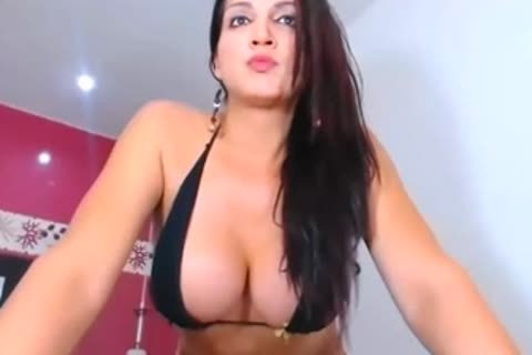 ladyboy With large tits Playing With Chaved shlong