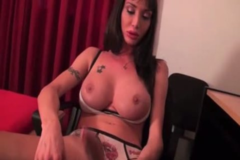 tgirl Watches Porn And Jerks