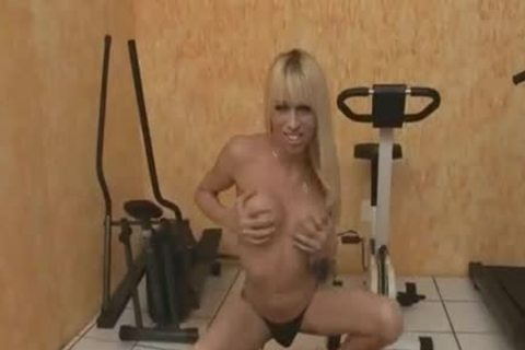 blond tranny Strokes And Touches Her butthole hole